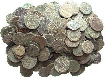 Чистка медных царских монет