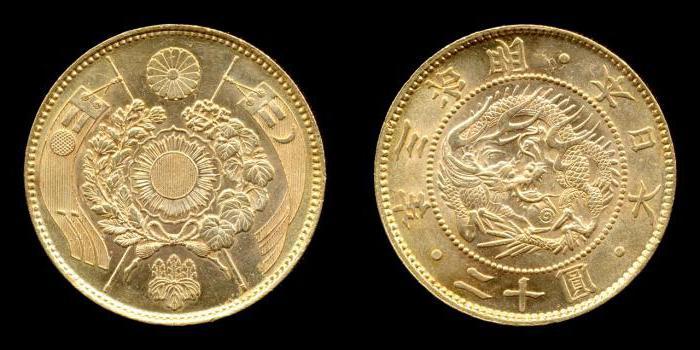 Японские йены монеты фото