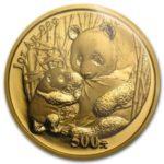 Золотая инвестиционная монета «китайская Панда»