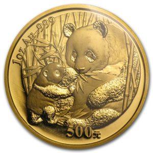 Золотая монета «китайская Панда»