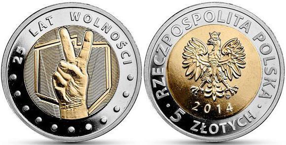 Монеты Польши 5 злотых