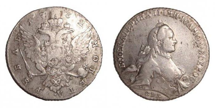 Монеты серебряные рубли царской России